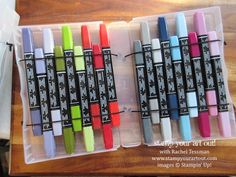crafts Storage Stampin Up - A Trick For Making This Blendabilities Storage Idea Even More Fabulous Craft Paper Storage, Craft Organization, Organizing Tips, Paper Craft, Organising, Marker Storage, Alcohol Markers, Card Making Techniques, Storage Ideas