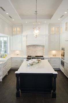 Marvelous White And Black Kitchen By KabCo Kitchens