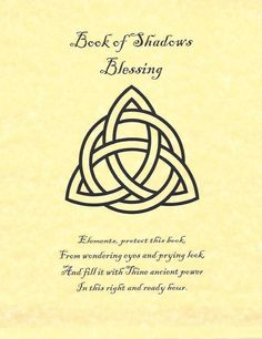 Book Of Shadows Blessing