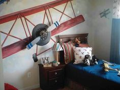 Airplane room-could buy vinyl airplane from vinyl4decor