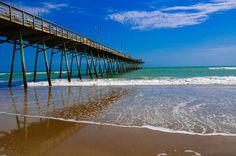 Bogue Inlet Pier, Emerald Isle, #NC. Sarah Dessen modeled Colby from Emerald Isle. The Isle looks beautiful too.