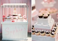 Ice Cream Party and Dessert Station Ice Cream Theme, Ice Cream Parlor, Ice Cream Stand, Sundae Bar, Ice Cream Social, Ice Cream Cookies, Icecream Bar, Summer Parties, Girl Parties