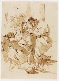 Art Collector: Art for today, February 1, 2015 - GIOVANNI BATTISTA TIEPOLO, GIOVANNI DOMENICO TIEPOLO, GABRIEL DE SAINT-AUBIN, CHARLES PARROCEL, JEAN-BAPTISTE GREUZE, HONORÉ DAUMIER,