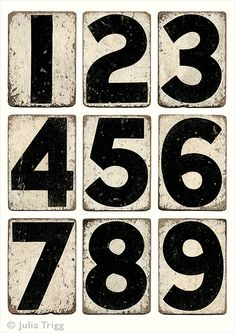 Cricket Run – Vintage cricket scoreboard numbers, monochrome print. Distressed numbers, shabby chic, gift for him. Printable Numbers, Printable Paper, Vintage Typography, Typography Letters, Number Typography, Vintage Labels, Vintage Ephemera, Number Fonts, Typographie Inspiration