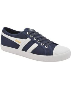 Gola Coaster Mens Retro Trainers Navy White Red