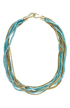 Michael Kors 'Sleek Exotics' Multistrand Torsade Necklace