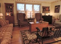 Primitive Living Room | Primitive Touches | Pinterest | Chairs, Primitive  Living Room And Windsor