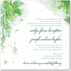 Signature White Textured Wedding Invitations Painterly Passion - Front : Eggplant - invitation idea?