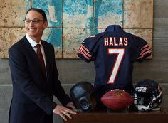 Marc Trestman poses after being introduced as the Chicago Bears' new head coach at Halas Hall in Lake Forest today. (John J. Kim / January 17, 2013)