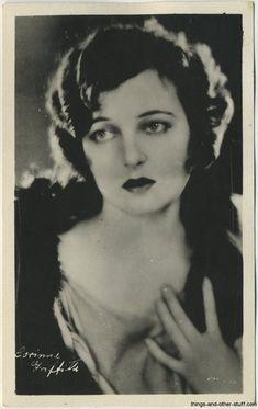 Corinne Griffith 1920s Real Photo Postcard on Immortal Ephemera  http://immortalephemera.zippykid.netdna-cdn.com/wp-content/gallery/1920s-real-photo-postcards/corinne-griffith-a.jpg