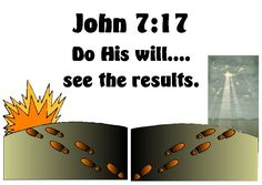 Doctrinal Mastery visual for John 7:17