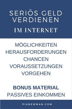 Seriös Geld verdienen im Internet: Die ganze Reihe + Bonus Material (scheduled via http://www.tailwindapp.com?utm_source=pinterest&utm_medium=twpin&utm_content=post100445349&utm_campaign=scheduler_attribution)