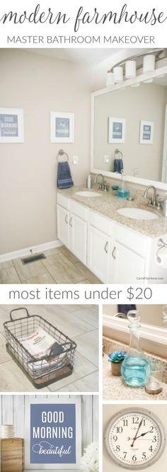 31 Modern Farmhouse Bathroom Vanity Makeover On Your A Budget Bathroom Vanity Makeover, Bathroom Makeovers, Budget Bathroom, Master Bathroom, Bathroom Ideas, Bath Ideas, Bathroom Inspiration, Sims 4, Kansas City