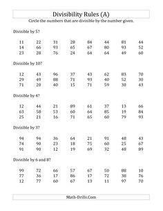 math worksheet : divisibility rules worksheets 4th grade math divisibility rules  : Divisibility Rules Worksheets