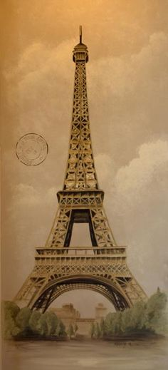 Eiffel Tower Painting by Holly Whiting - Eiffel Tower Fine Art Prints and Posters for Sale