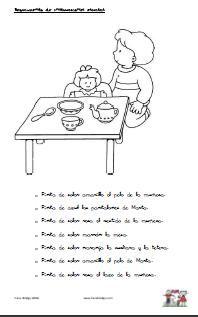 Poema infantil. Puntuación del diálogo. Signos de