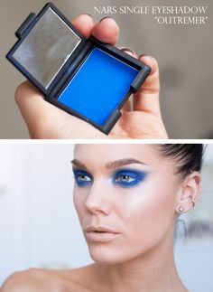 Linda Hallberg's eye makeup with NARS Outremer <3