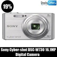 Sony Cyber-Shot DSC-W730 16.1MP Digital Camera @ 19% Off