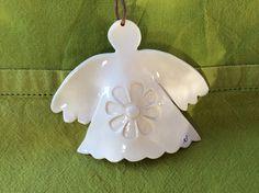 Ange en céramique naturelle et dentelle : Accessoires de maison par alleya