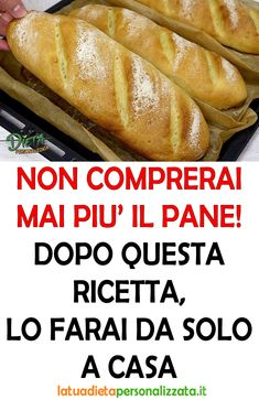 Pane Pizza, Polenta, Bruschetta, Hot Dog Buns, Biscotti, Food And Drink, Healthy Recipes, Bread Baking, Pies