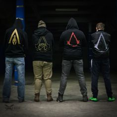 Mikiny z posledných hier Assassins Creed Assassins Creed, Motorcycle Jacket, Harry Potter, Darth Vader, Fictional Characters, Fashion, Moda, Fashion Styles, Fantasy Characters