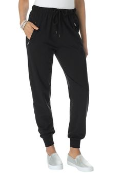 Plus Size Zip Track Pants