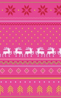 Holiday pattern.
