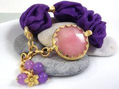 Purple Bohemian Turkish Silk Bracelet  Pale by Lylaaccessories, $35.00