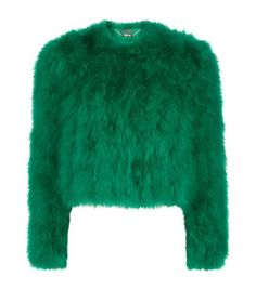 Love this by ALEXANDER MCQUEEN Marabou Feather Jacket - $2658