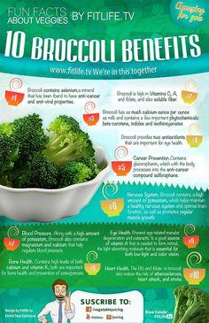 Ten broccoli health benefits