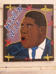 Howlin' Wolf - Dan Dalton ARt Blues Folkart