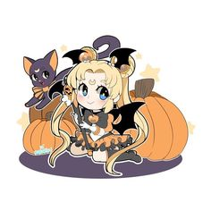 sailor moon says happy halloween happy halloween pinterest sailor moon sailor and happy halloween