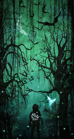 This Zelda inspired poster from Colin Morella is just about perfect for Halloween. I love the spooky atmosphere.