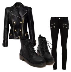 """""""Death of my sleep"""" by milly-pixie-cartwright ❤ liked on Polyvore featuring beauty, Paige Denim and Balmain"""