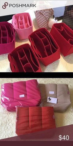 Firm felt but lightweight. Comes with 3 removable pockets. Second photo is for additional color references only. Louis Vuitton Neverfull Mm, Louis Vuitton Handbags, Purses And Handbags, Luxury Bags, Luxury Handbags, Purse Organization, Burberry Handbags, Handbags Michael Kors, Fashion Bags
