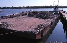 Barge used to carry oyster shells.