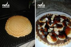 Tost Makinesinde Waffle Hamuru 2 Trifle, Food Presentation, Cobbler, Great Recipes, Deserts, Food And Drink, Breakfast, Cake, Morning Coffee