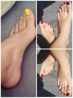 Beautiful Toes, Pretty Toes, Beautiful Things, Feet Nails, Toenails, Pedicure Colors, 1920s Hair, Foot Toe, Female Feet