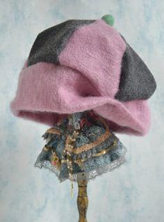 Cashmere Wool Beanie Hat  Pink Cashmere Beret  Warm by Liquidshiva, $39.00