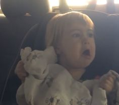Little Girl Hates Drive Through Car Wash… And It's Adorable #mommytube #video #funny #cute #lol