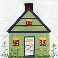 House Paper Piecing Quilt Pattern