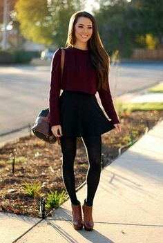 The most stylish ways to wear ankle boots this winter skirt skirt skirt skirt outfit skirt for teens midi skirt Mode Outfits, Outfits For Teens, Dress Outfits, Casual Outfits, Fashion Outfits, School Outfits, Dinner Outfits, Grunge Outfits, Dress And Tights Outfit