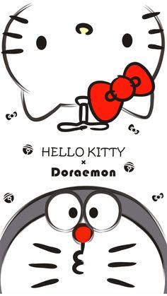 14 best hellokitty x doraemon images in 2019 Kaws Iphone Wallpaper, Sinchan Wallpaper, Cute Girl Wallpaper, Hello Kitty Wallpaper, Cute Wallpaper Backgrounds, Doraemon Cartoon, Doraemon Wallpapers, Kitty Images, Matching Wallpaper
