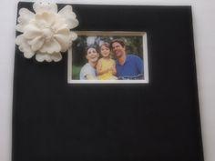 Scrapbook Album Black Ivory Peony Flower custom colors #wedding gift scrapbook  by ArtisanFeltStudio on Etsy, $33.00