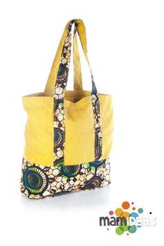 Borsa shopper con doppia stoffa wax print realizzata da www.mamideas.com fa541a78c03
