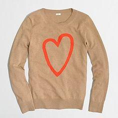 Factory intarsia heart sweater