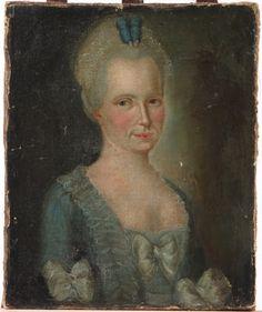 Portrait d'une femme en robe bleue, seconde moitié du XVIIIe siècle