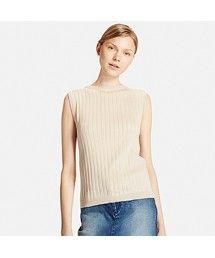 UNIQLO | WOMEN UVカットワイドリブノースリーブセーター(ニット・セーター)