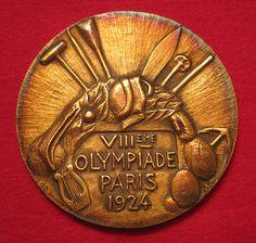 1924 Summer Olympics Gold Medal, Paris France (VIII Olympiade).