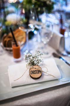 Tischdeko Hochzeit - Namensschilder